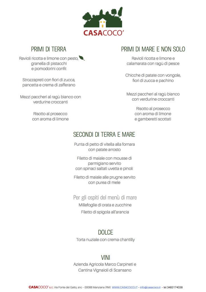 Casacocò menù degustazione sposi2 2