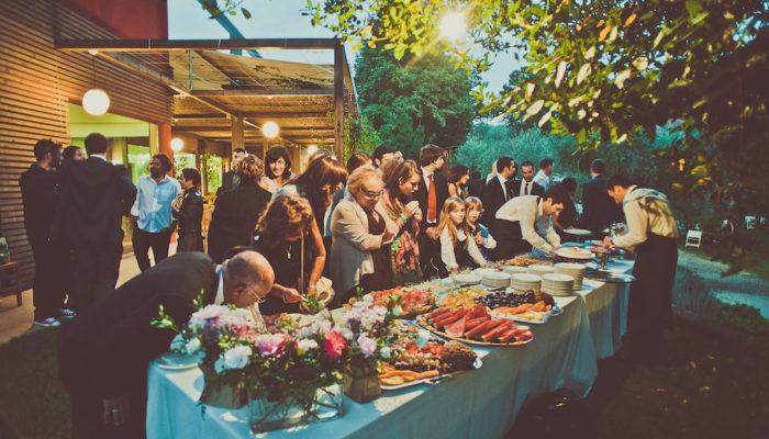 Il buffet nel parco